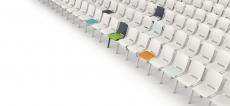 Casala Monolink zaalstoel voor overleg, symposium, vergadering en werkbespreking