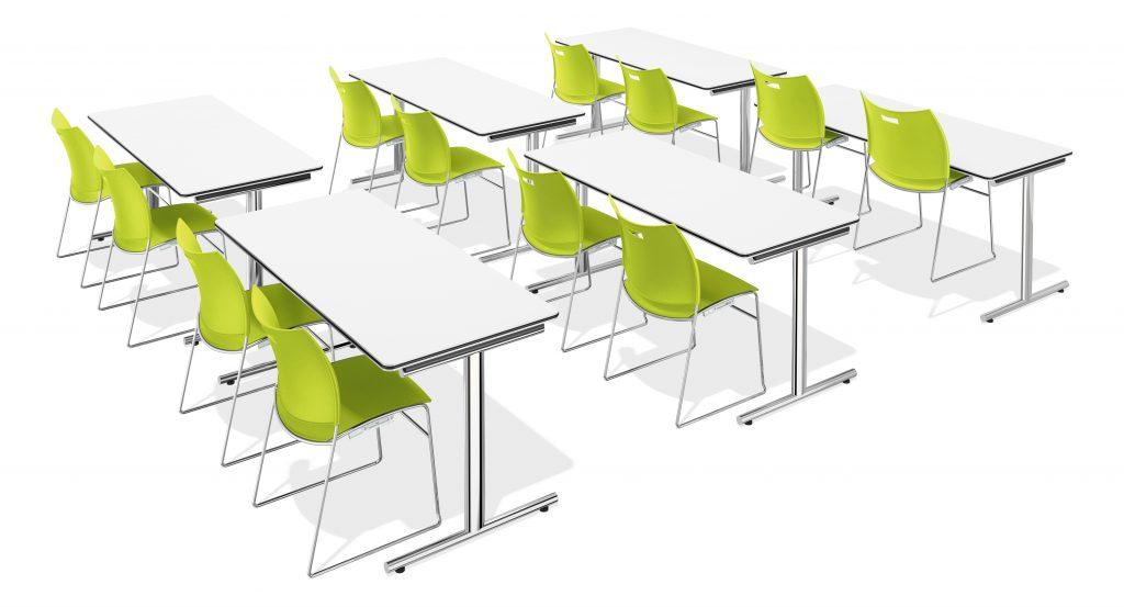 Klaptafels klaslokaal opstelling